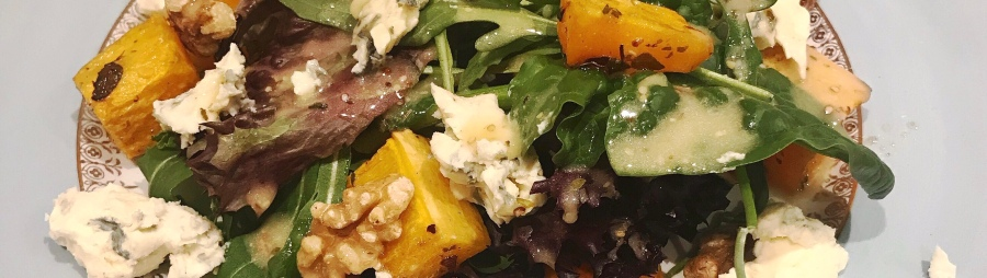 recipe: roasted squash and blue cheese salad